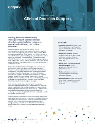 Solution Brief: Clinical Decision Support for Healthcare Providers