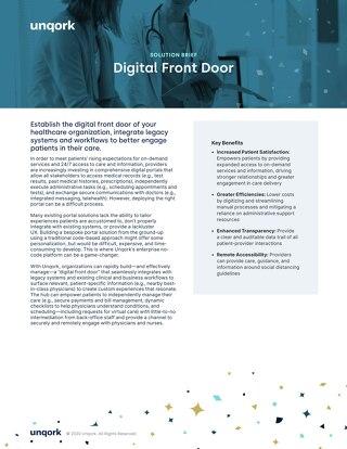 Solution Brief: Digital Front Door for Providers