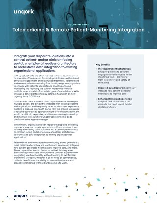 Solution Brief: Telemedicine and Remote Patient Monitoring Integration Solution