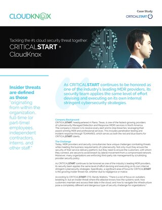 Tackling the #1 cloud security threat together: CRITICALSTART + CloudKnox