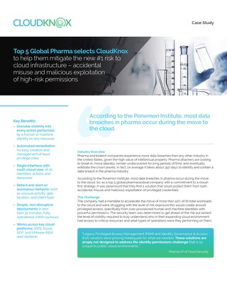 Top 5 Global Pharma selects CloudKnox