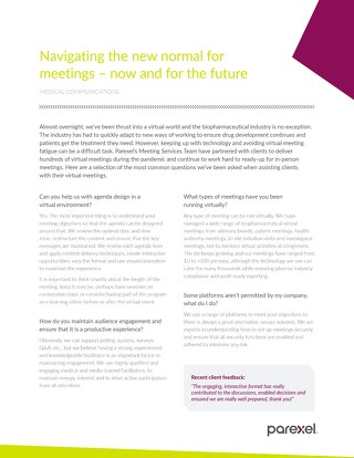 Navigating the new normal for meetings – now and for the future