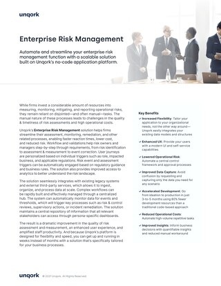 Solution Brief: Enterprise Risk Management