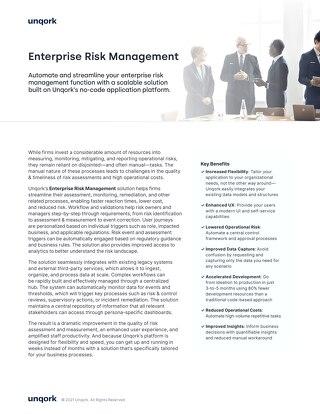 Solution Brief: Enterprise Risk Management