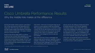 Cisco Umbrella Performance Report