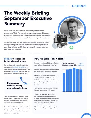 September Executive Summary - The Weekly Briefing