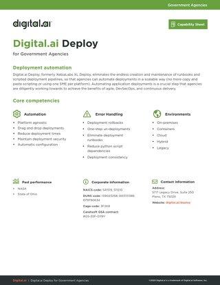 Deploy Capability Sheet
