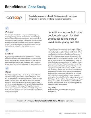 Cariloop Case Study - Benefitfocus