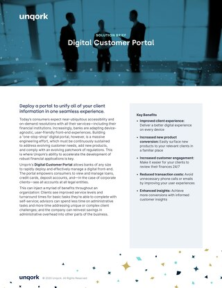 Solution Brief: Banking Digital Customer Portal