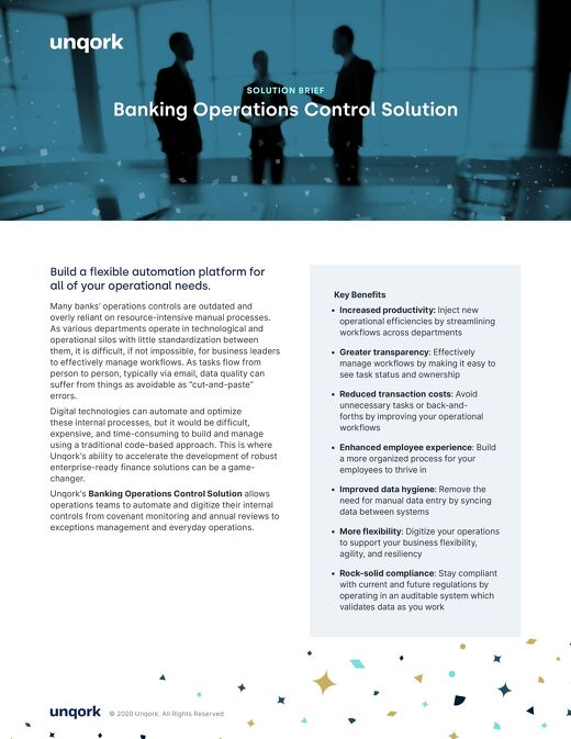 Solution Brief: Banking Operations Control Solution