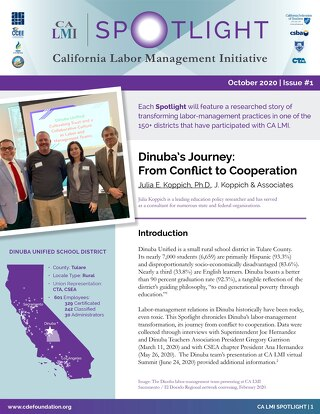 California Labor Management Initiative Spotlight October 2020