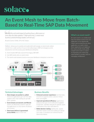 Batch-Based to Real-Time SAP Data Movement