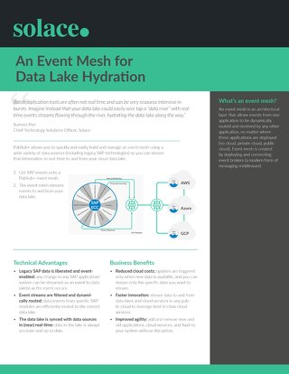 Event Mesh for Data Lake Hydration