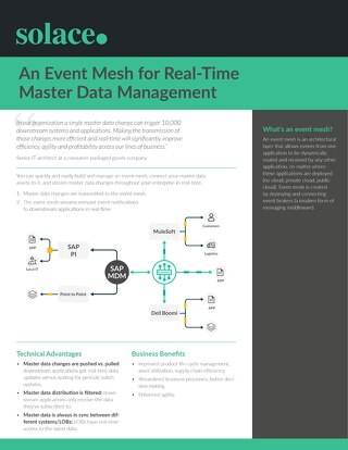 Event Mesh for Real-Time Master Data Management