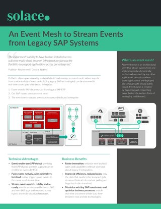 Event Mesh to Stream Events from Legacy SAP Systems
