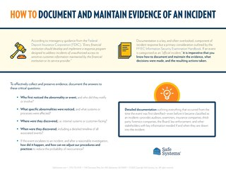 How to Document and Maintain Evidence of an Incident