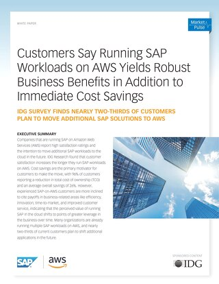 Running SAP Workloads on AWS Yields Robust Business Benefits in Addition to Immediate Cost Savings