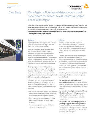 Case Study: Oùra Regional Ticketing validates modern travel convenience for millions across France's Auvergne-Rhône-Alpes Region