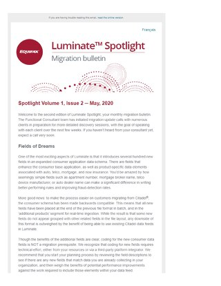Spotlight Newsletter - May 2020