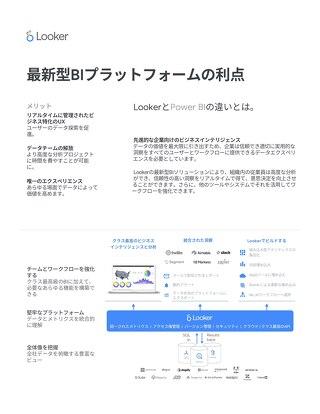 ホワイトペーパー:LookerとPowerBIの比較