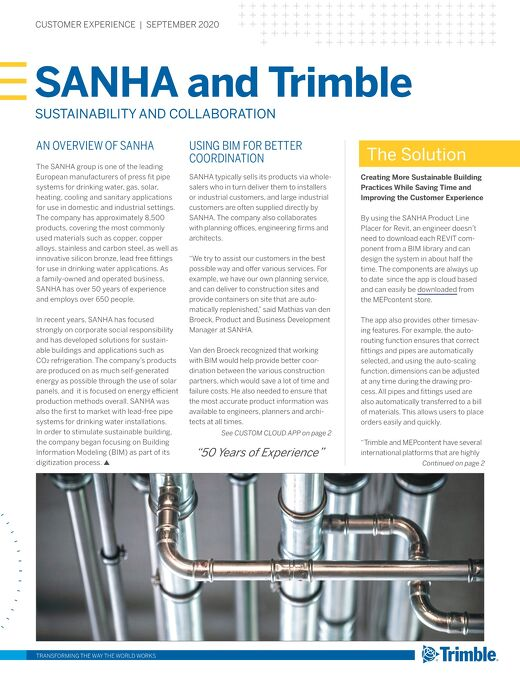 SANHA and Trimble Case Study