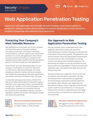 Web Application Pentest Datasheet