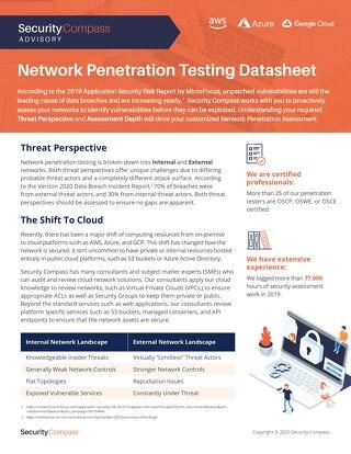 Network Pentesting Datasheet