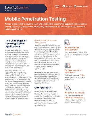 Mobile Pentesting Datasheet