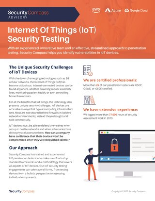 Iot Security Datasheet