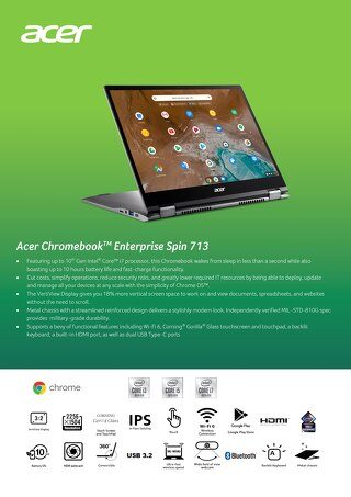 Acer Chromebook Enterprise Spin 713
