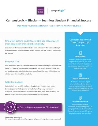 Ellucian and CampusLogic Partner Flyer