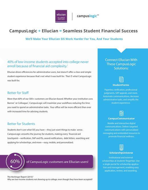 Ellucian and CampusLogic Partner Flyer