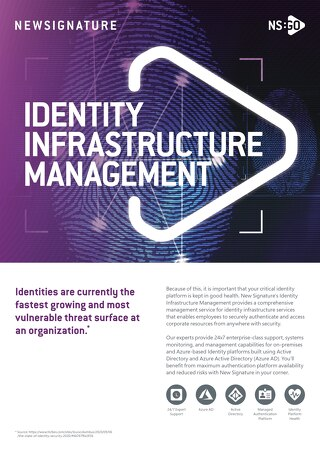 NS:GO Identity Infrastructure Management 2020 Flyer
