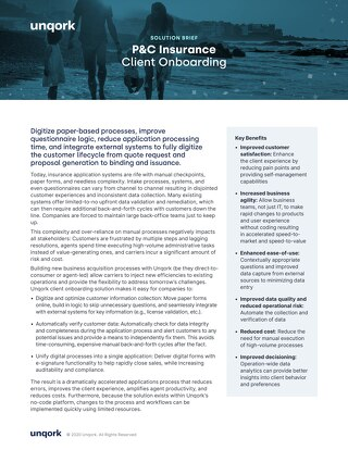 Solution Brief: P&C Client Onboarding
