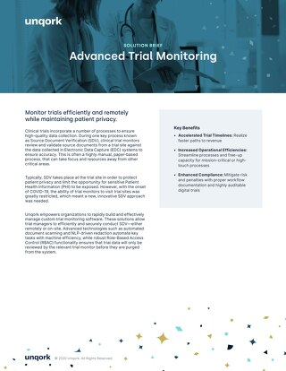 Solution Brief: Healthcare Lifesciences Advanced Trial Monitoring Solution