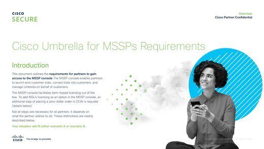 Cisco Umbrella for MSSPs Requirements