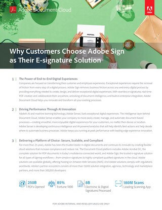 Why Customers Choose Adobe Sign as Their E-signature Solution