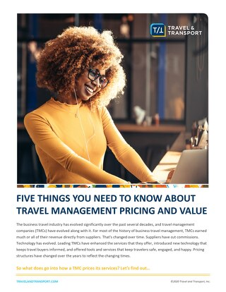 Travel Management Pricing and Value: 5 Things You Need to Know