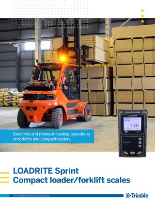 Trimble LOADRITE Sprint Compact Loader/Forklift Scales Brochure - English