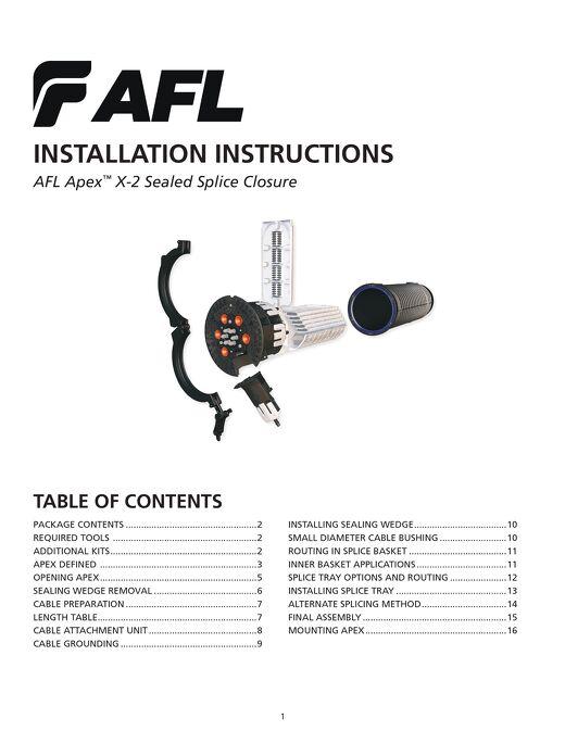 Apex™ X2 Closure Instructions