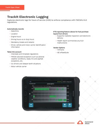 TrackIt Electronic Logging Spec