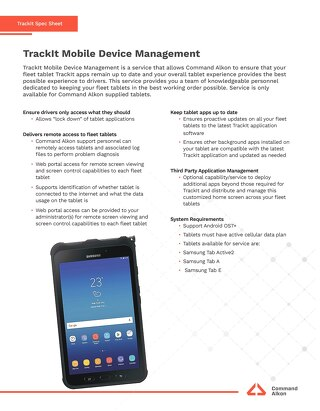 TrackIt Mobile Device Management Spec