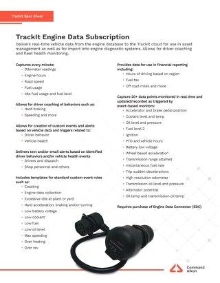 TrackIt Engine Data Subscription