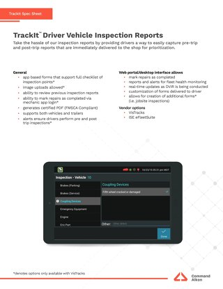 TrackIt Vehicle Inspection Spec