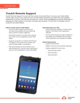TrackIt Remote Support Spec