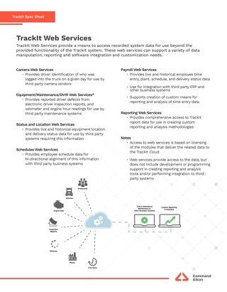 TrackIt Web Service Spec