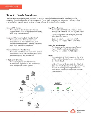 TrackIt Web Services