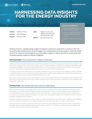 Total Gas & Power : Harnessing Data Insights for the Energy Industry