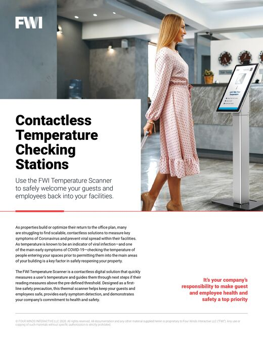 How the FWI Temperature Scanner can Help Ensure a Safe Return for Your Guests