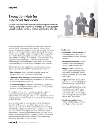 Solution Brief: Exception Hub for Financial Services